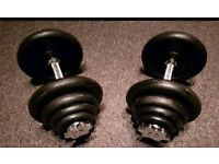 **£40** Set of Dumbells with 40kg of Weights