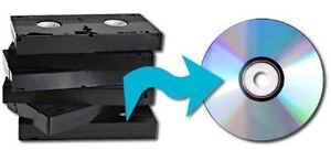 Transfer VHS tapes to DVD (Also Camcorder Tapes) only $8.00!!