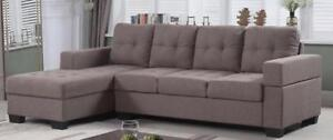 Diamond BG Sectional Sofa Grey / Brown $499 Special Offer***