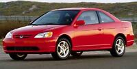 Honda civic 2001 rouge