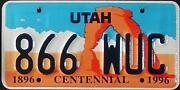 Utah License Plate