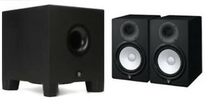 Yamaha HS 8 (Pair) with 8 inch Powered Studio Subwoofer + Stands