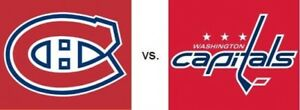 2 billets Canadiens Washington 19/11 Desjardins