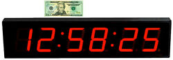 LARGE 4 LED COUNT DOWN/UP/INTERVAL TIMER/STOPWATCH REMOTE CONTROL CLOCK