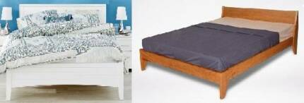 4 sets solid wooden queen bed frame