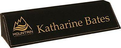 Personalized Leatherette Business Desk Name Plate 8.5