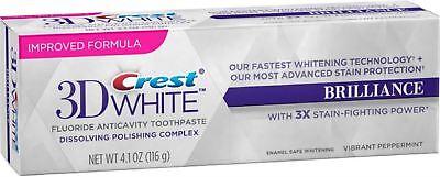 Crest 3d White Brilliance Toothpaste, Vibrant Peppermint ...