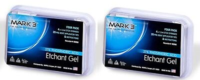 Etchant Gel 37 Phosphoric Acid 4 X 1.2 Ml Etch Syringes 20 Tips 2packs