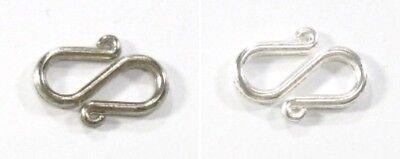 S-Verschluss S-Form S-Haken Verschluss Schmuck Metall Silber Platin 15x10,5mm - Platin 10.5