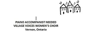Piano accompanist needed for women's choir