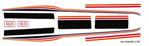 1969-CAMARO-Z28-Custom-Stripes-1-32-Scale-Walterslide-Slot-Car-Decals