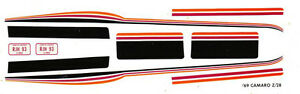1969-CAMARO-Z28-Custom-Stripes-1-43rd-Scale-Waterslide-Slot-Car-Decals