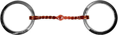 Stainless Steel Twisted Copper wire mouth Snaffle Bit 5 inch mouth #81074