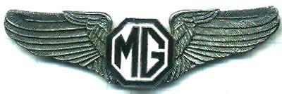 LAST of the Classic Black MG Logo Pilot Wings