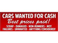 Wanted cars vans mot failures non runners scrap free collection