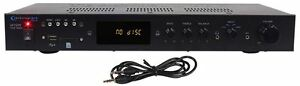 Technical-Pro-IA1000-1000-Watt-2-Channel-Integrated-Receiver-Amplifier-w-USB-SD