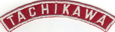 BOY SCOUT TACHIKAWA (JAPAN) MILITARY BASE RED & WHITE HALF STRIP 1/2MBS