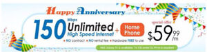 150M FTTN Internet + Home Phone at ONLY $59.99/m