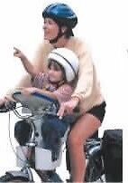 Child bike seat front position