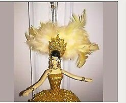 "9"" lovely fairy Christmas decoration gold with feathers £5"