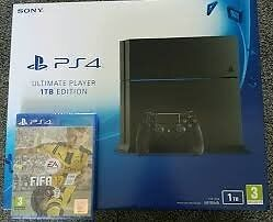 ** BNIB PS4 Console 1TB & sealed copy of FIFA17 **