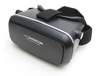 shinecon vr 3d gear glasses headphones with bluetooth remote £35 each 2 for £60