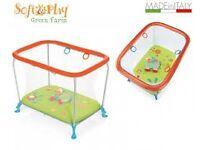 Brevi Soft & Play Green Farm Playpen – Good Condition