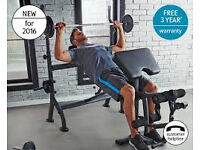 weight lifting bench brand new in box unused , cost £179, quick sale.