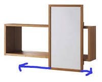 Ikea wooden cabinet with sliding mirror