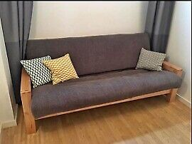 3 seater Vienna futon sofa bed with mattress and cover, New Condition