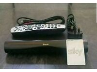 Sky HD box with remote and power lead