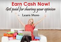 Get Paid For Your Opinion! Free Sign Up.