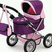 little girls pram and buggy