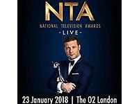 National Television Awards 23/01/2018 19:30 - O2 London