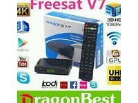 New Freesat V7 HD freeview satellite reciever