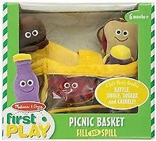 Melissa and Doug Picnic Basket Fill and Spill BNWT Slight damage to box