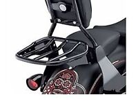 Harley Davidson Luggage Rack Custom Tapered Sport Gloss Black (50300031). Fits Dyna and others