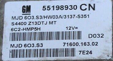 vauxhall combo 1 3 cdti wiring diagram vauxhall corsa combo 1 3 cdti ecu repair 55568383 55568385 kz ky  vauxhall corsa combo 1 3 cdti ecu