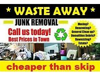 WASTE AWAY RUBBISH CLEARANCE REMOVAL DEMOLITION HOUSE GARAGE GARDEN LOFT BUILDERS WASTE RECYCLE 2DAY