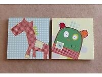 Mamas and Papas Gingerbread Plaques x3 and Pictures x2