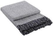 Wolldecke Grau