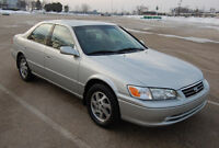 2001 Toyota Camry, saftied, clean status, 4 cylinder, HWY KM