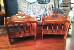 Maple Magazine Stands X2 by Nadeau Made in Canada- NEW PRICE