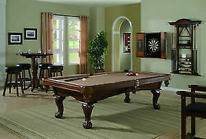 "Solid Hardwood 1"" Slate Pool Tables w/kit installed $2699.00!!"