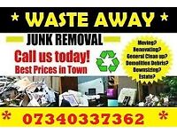 WASTE AWAY HOUSE GARAGE GARDEN WASTE CHEAP REMOVAL CLEARANCE DEMOLITION MAN AND VAN HAMPSHIRE
