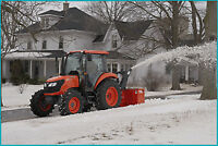 Tractor Snow blowing operators wanted
