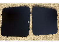 2 x Van Guard Tailored Fit Rear Window Security Blank Plates for Mercedes Vito (96-03) Left & Right