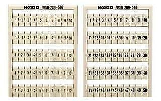 WAGO - 209-501 - TERMINAL BLOCK MARKERS, BLANK, WHITE, 17.5MM W