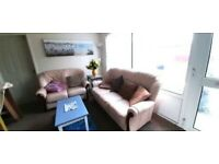 Leather settees + armchair .Dartmouth
