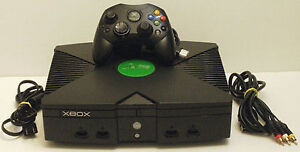 Original xbox with controller and game
